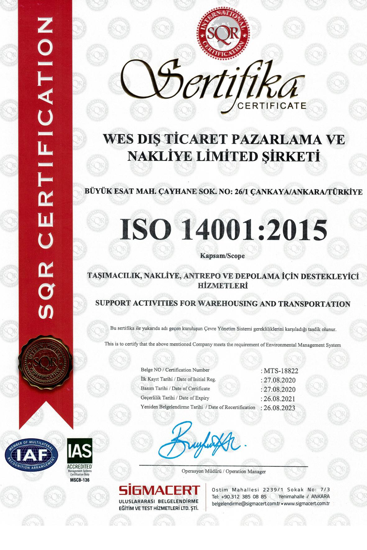 WES-ISO-14001